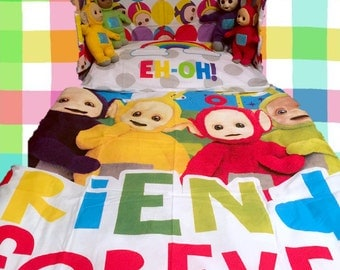 Teletubbies Bedding Set Cot Crib Toddler
