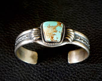 Navajo Turquoise Bracelet by Kirk Smith