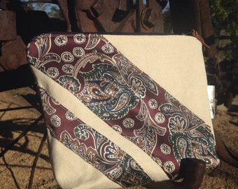 Upcycled Necktie Travel Bag