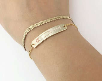 solidarity safety pin Bracelet - safety pin jewelry Solidarity Pin safety pin movement love wins feminist Jewelry - 5BR