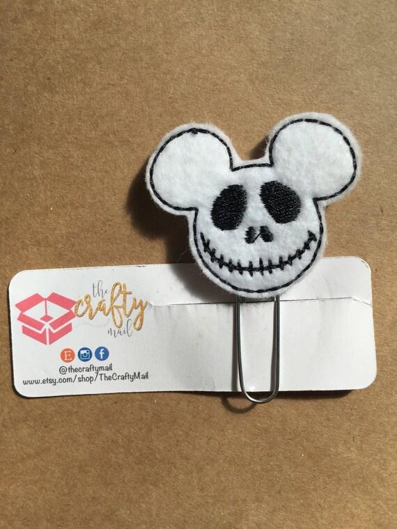 Jack Skull Mouse Paper Clip/Planner Clip. Mouse ear planner clip. Mouse planner clip.