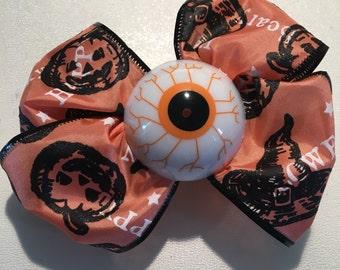 Eyes On You • Orange Halloween Hair Clip