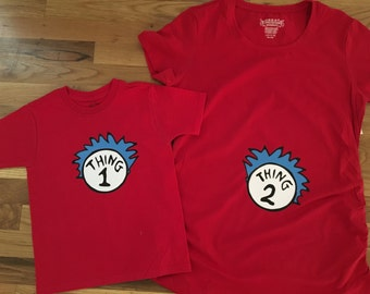 Dr. Seuss maternity shirt,  Thing one Thing Two Maternity Shirt