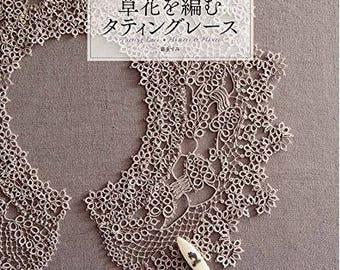 Tatting lace knitting flowers - Japanese tatting lace book