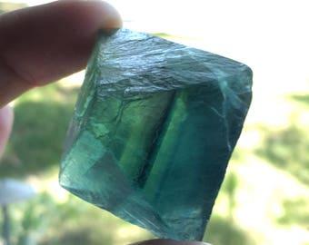 High Quality 66.5g Fluorite Octahedron Crystal