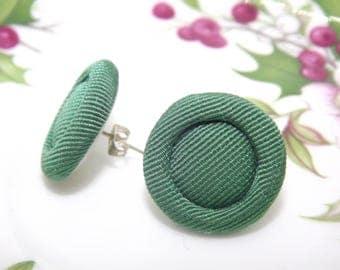 Orecchini a lobo/ Small earrings/ Orecchini vintage/ Orecchini verdi/ Green earrings/ Button earrings