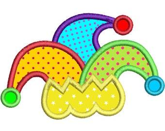 Mardi Gras Hat Applique Embroidery Design, Instant Download Party Hat Machine Embroidery Design no: SA535-4