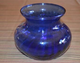Cobalt blue vase / blue vase / cobalt vase / vase / blue / cobalt blue / glass vase / blue glass vase / cobalt blue glass vase / vintage