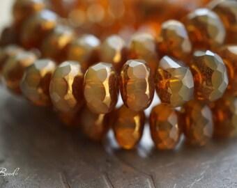 Royally Golden, Rondelle Beads, Czech Beads, N2388