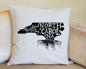 North Carolina Pillow Cover, North Carolina Decor,North Carolina,Housewarming Gift,Pillow,Home Pillow,State Pillow,Pillow Cover,Wedding Gift