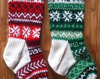 Custom Knit Christmas Stocking