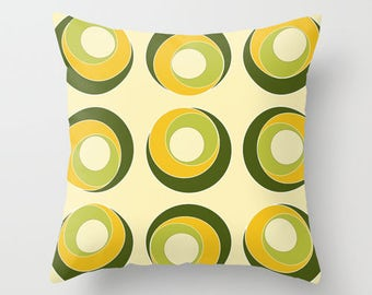 Patio Pillow Cover, Outdoor Pillows, Olive Green Pillows, Yellow Pillows,  Decorative Pillows