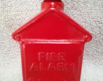 Vintage Avon Fire Alarm Box Electric Pre Shave Lotion Bottle Empty 4oz Free Shipping