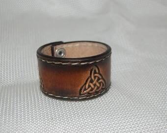 leather bracelet, celtic bracelet handmade, handstitched