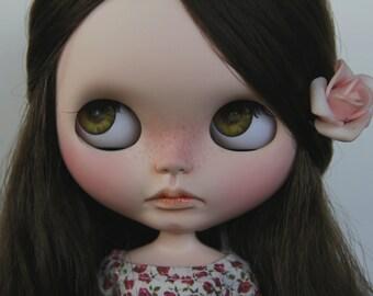 SALE ! Brown hair girl - OOAK Blythe Doll