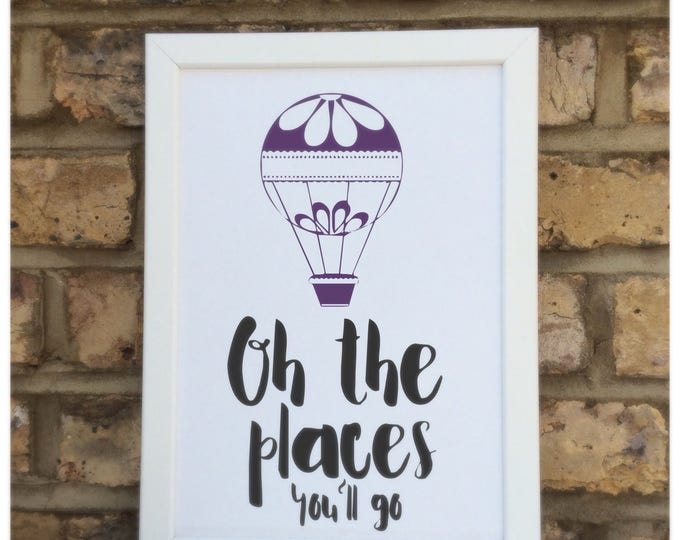 Oh the places you'll go print | quote | Wall prints | Wall decor | Home decor | Print only | Typography