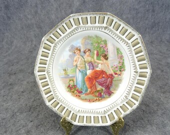 C. Schumann Dish With Lace Circa 1900'S
