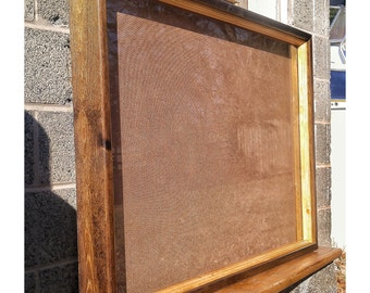 stained box frame finished box frame square wood frames wood shadow box - Shadow Box Frames