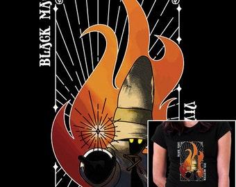 The Black Mage - Vivi Final Fantasy video game inspired tee shirt - Men Women shirts - 3XL/4XL