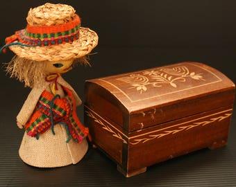 Wooden Box, Jewelry box, Treasury box, Hand carved box, Jewelry WoodenBox, Folk Box, Trinket box, Folk Art, Folk art box, Decorative box