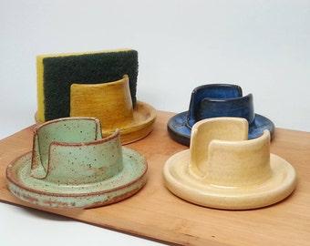 Pottery Sponge Holder - Ceramic sponge caddy.