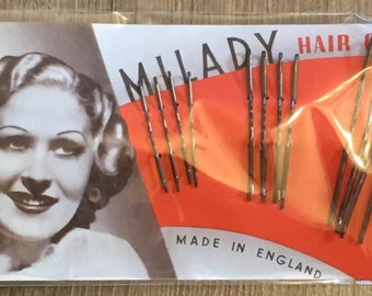 1930's Vintage Deadstock MILADY HAIR GRIP Bobby Pins
