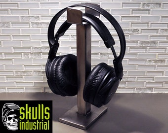 Headphone Stand. Zombie Model. Industrial and minimalist, welded steel that will last a lifetime.