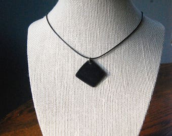 Vinyl Record upcycled recycled necklace