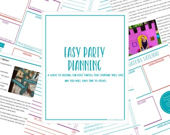 Kids Party Tips, Printable Party Planner Guidebook, Kids Party Planning Tips, Printable Kids Party Organizer, Party Planning Worksheets