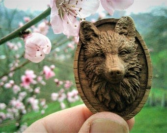 Fox Necklace Wood Pendant Jewelry Carving Animal Art Personalized Gift Woodland Animal Charm Necklace Brown Woodwork Fox Totem Wildlife