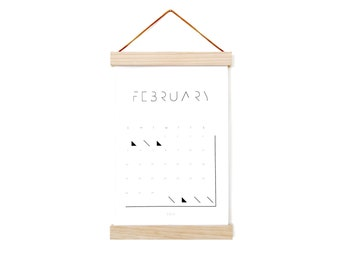 2017 Calendar - with Magnetic Wood Frame