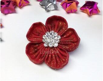 Poppy - Bella flower brooch - small