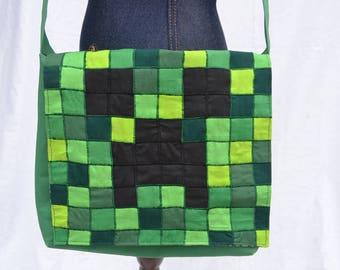 Minecraft Creeper Messenger Bag (Reversible)