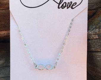 Infinity Love Necklace Dainty Necklace Infinity Necklace