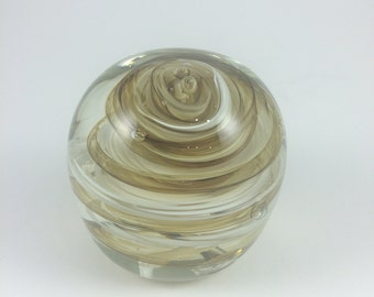 Green and White Paperweight