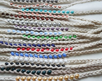 BEADED HEMP FRIENDSHIP Bracelet