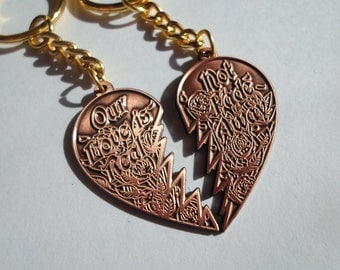 copper not fade away grateful dead friendship keychains NFA