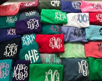 READY TO SHIP Monogrammed Shirt - Monogram Shirt - Monogram T-shirt - Monogram Tshirt - Personalized Shirt - Monogram Tee
