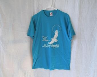 SALE 90s Religious Eagle Run Marathon T-Shirt