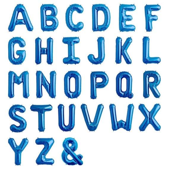 blue letter balloons 13.5 royal blue letters blue