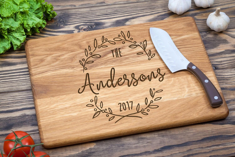 Wedding Gift Cutting Board: Custom Cutting Board Wedding Gift Cutting Board