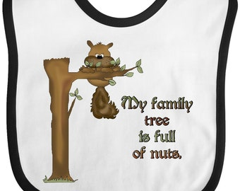 My family tree is full of nuts Baby Bib by Inktastic