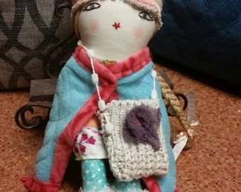 Sale! Reduced price! doll. Soft doll. Folkart. Sara