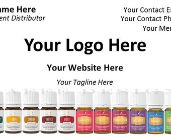 Customizable Business Card for Essential Oils Consultant 3 - DIGITAL FILE