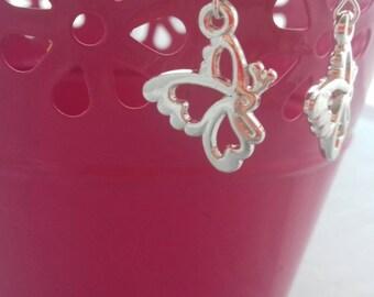 Butterfly Earrings, Dangle Fashion Earrings, Drop Earring, Sterling Silver Jewellery, Stocking Filler For Her, Christmas Gifts,