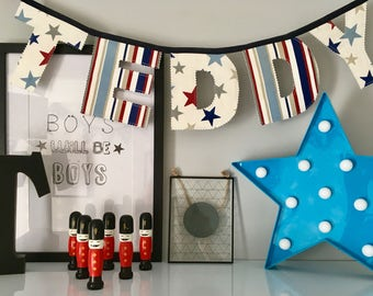 Boys Personalised Name Bunting