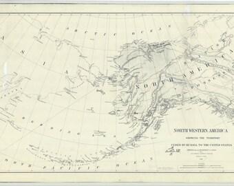 Alaska Map 1867