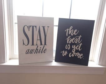 Black Canvas hand painted signs