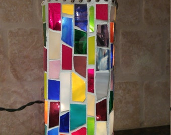 Stained Glass Mosaic Bottle Light