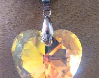 Austrian 28 mm iridescent Crystal Crystal heart pendant